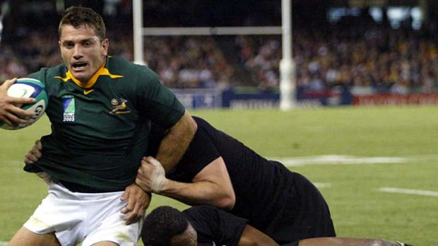 Joost van der Westhuizen playing for South Africa at the 2003 World Cup.