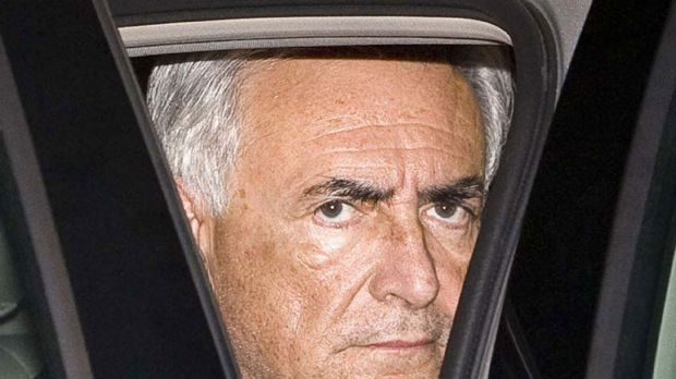 Accused of sexual assault ... Dominique Strauss-Kahn after his arrest in New York.