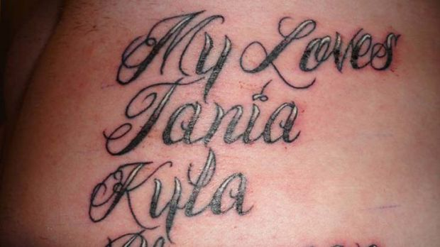 Paul Rogers's tattoo list the names of his family members.