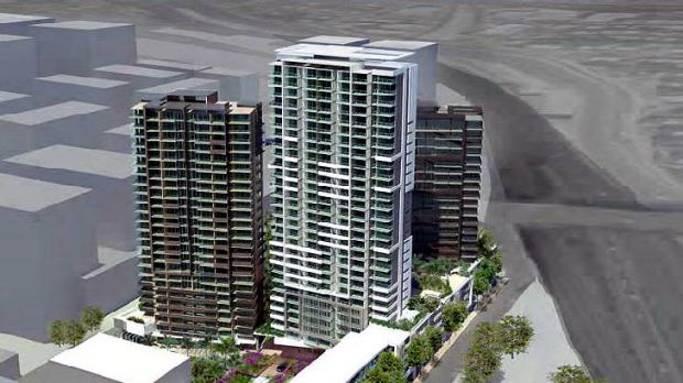An artist's impression of a proposed development on Stanley Street in Woolloongabba.