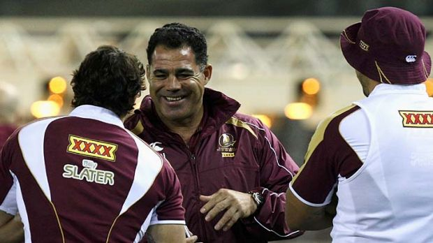 A simple laugh by Mal Meninga can put his players at ease.