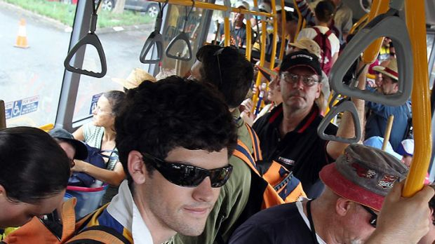 A record number of Brisbane buses reached capacity in March.