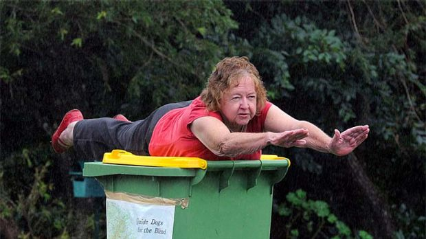 Nancy Cohen, 75, puts her own spin on the planking craze that's sweeping the nation.