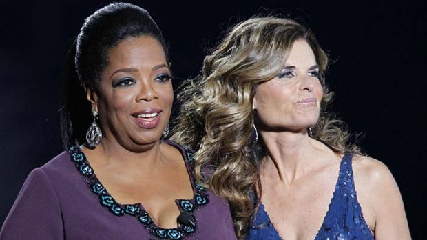 Maria Shriver appears on the Oprah Winfrey Show earlier this week.