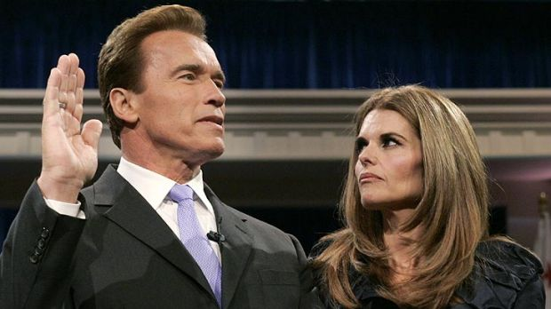 Arnold Schwarzenegger is joined by his wife Maria Shriver in 2007, when he was sworn in for a second term as Cailfornia ...