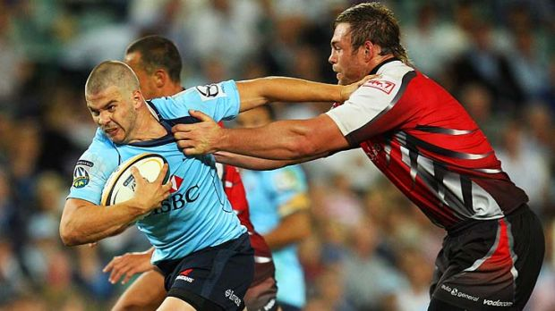 Those were the days . . . the now injured Drew Mitchell scored four tries for the Waratahs against the Lions last year.