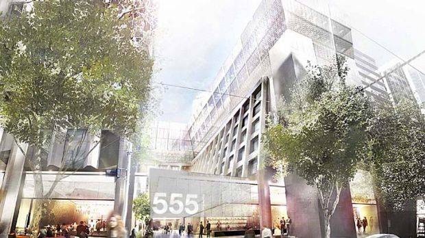 No mere refurbishment: 555 Bourke Street is set for an overhaul.