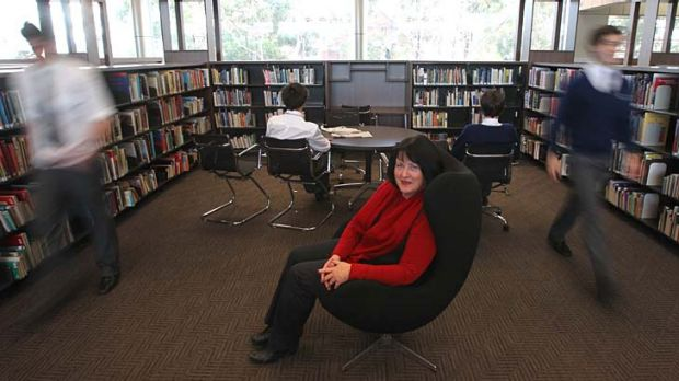 """I don't think teacher librarians are in an extinction phase"" ... June Wall, treasurer of the Australian School Library ..."