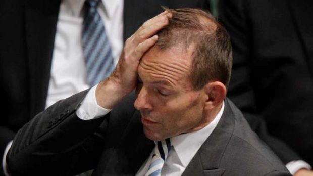 Bitterness within the party ... Tony Abbott.