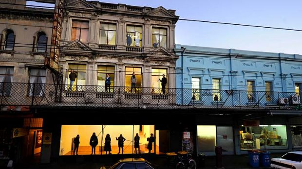 Artists that work in the many studios in the Gertrude Contemporary building on Gertrude Street, Fitzroy protest its sale.