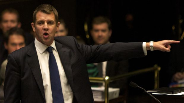 Out you go ... NSW Treasurer Mike Baird.