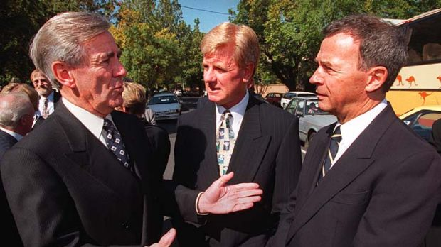 Mal Walden with the late Brian Naylor and David Johnston.