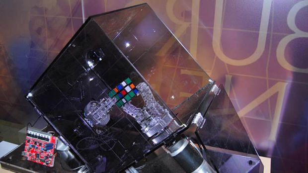 Ruby the robot can solve Rubik's Cube in just over 10 seconds.
