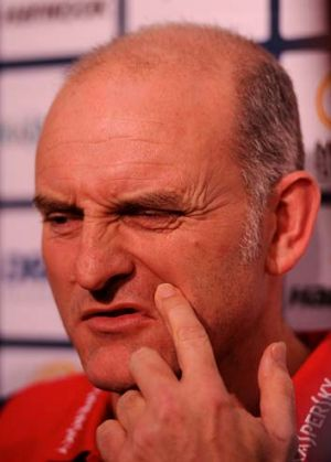 Melbourne coach Dean Bailey speaks to the media at AAMI Park this week.