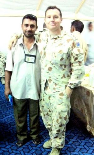 Sahib Mohammad, left, says he has been treated like a traitor by Australian-based Iraqis since migrating three years ago.