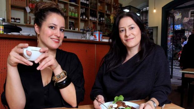 Danielle Draudt (left) and Michelle Matthews believe 'small and local' are the economics of happiness.
