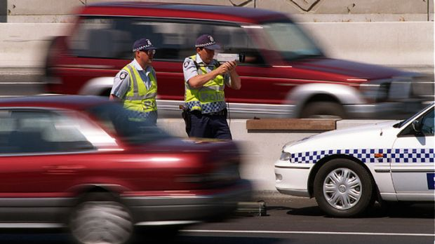 Downed tools.... Victoria Police are warning drivers of speed cameras as part of their pay protest.