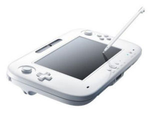 A stylus can be used with the Wii U controller