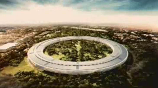 Apple's planned new headquarters.