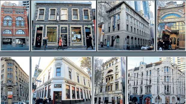 Precious facades include the Argus building, Hotel Lindrum, Markillies Hotel and the Sir Charles Hotham.