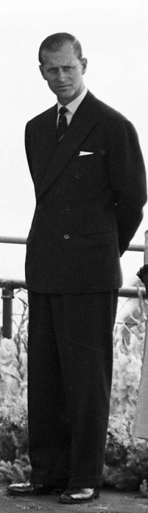 Prince Philip during a visit to Australia in 1954.