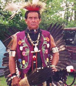 Walt's father in tribal garb.