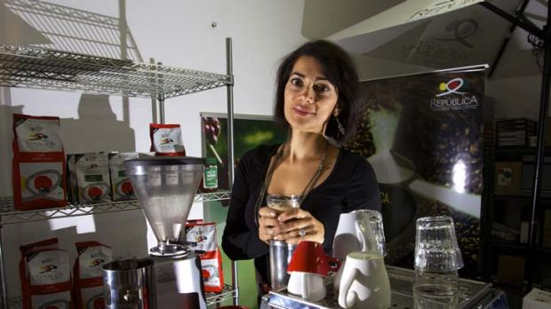 ''We can't do it all'' ... Jacqueline Arias set up Republica Coffee in 2006.