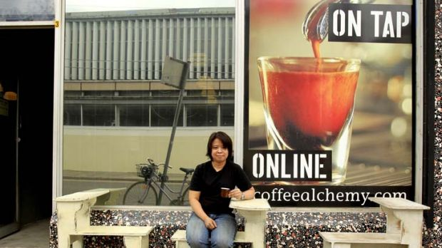 """""""I was never introduced to instant coffee or other hot drinks"""" ... Hazel de los Reyes outside her cafe and roast house, ..."""
