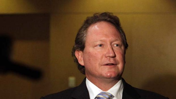 WA mining magnate Andrew Forrest says small miners are disadvantaged by MRRT.