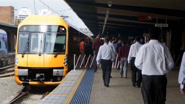 Better late ... the new Waratah train is a fortnight away.