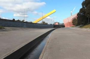 Moonee Ponds Creek: A section of the creek was made into a concrete drain in the 1970s as part of the Tullamarine ...