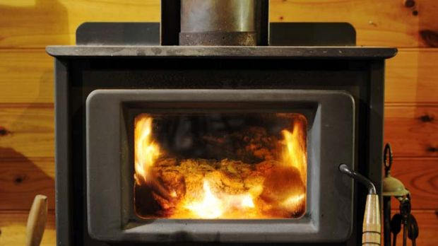 Health hazard ... a wood-burning heater releases more pollution than a car.