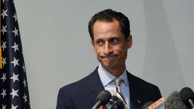 Look of resignation ... U.S. Rep. Anthony Weiner announces he will resign from the United States House of ...