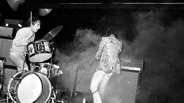 My generation ... the Who's Keith Moon and Pete Townshend in Sydney in 1968. Boomers face growing old uncomfortably.