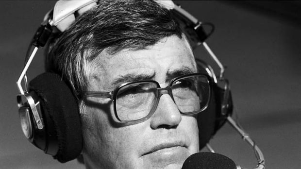 Rex Mossop as he will be remembered in his rugby league commentary days.