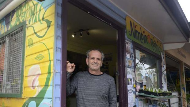 Pot luck ... Andrew Kavasilas, the former owner of Nimbin's Oasis Cafe, who has a licence to grow industrial hemp.