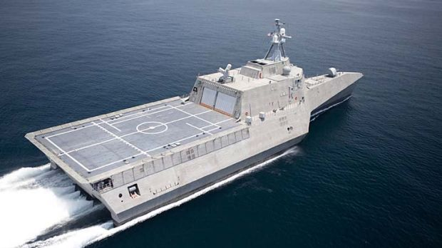 Littoral combat ship the USS Independence was the first of a possible 10 ships that Austal was asked to build for the US ...