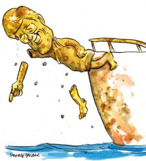 Corrosion concerns ... the former Austal chief Bob Browning. <em>Illustration: John Shakespeare.</em>