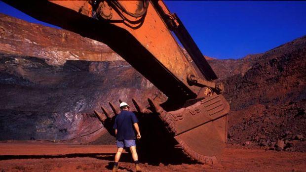 Iron ore mining in the Pilbara, Western Australia.