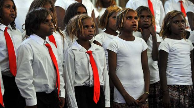 A children's choir at Pukatja in central Australia welcomed Indigenous Affairs Minister Jenny Macklin on a visit to ...