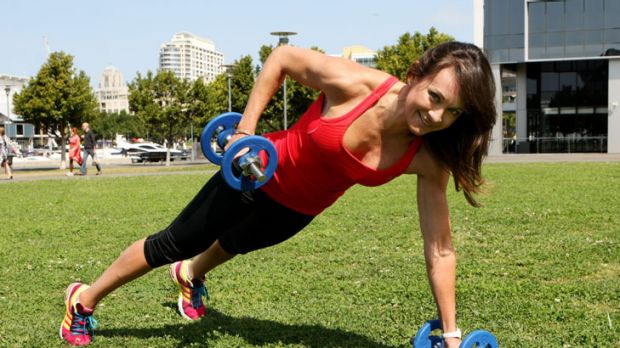 Go through the motions ... of the exercises you're about to do, advises Michelle Bridges.
