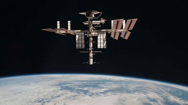 A piece of space junk went within 250m of the International Space Station.