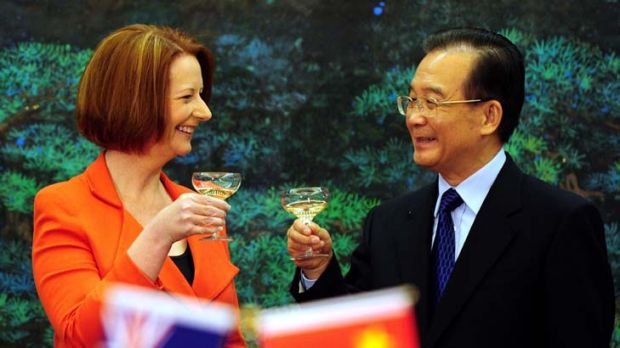 Prime Minister Julia Gillard and Chinese Premier Wen Jiabao ... Australia's historical relationship with the Chinese is ...