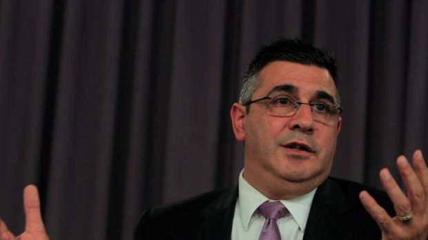 Hit out at Optus ... AFL chief executive Andrew Demetriou.