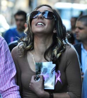 Rachelle D'Argent outside of court yesterday after her ex-partner was sentenced to life in prison.