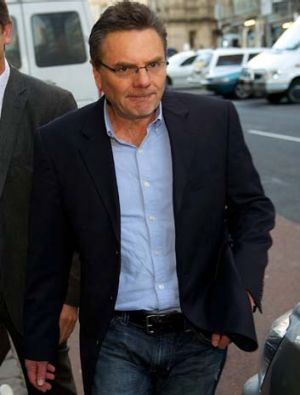 Mitchell Anderson Former Securency executive leaves the Melbourne Magistrates Court after being arrested in the early ...