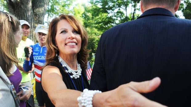 Musical squabble ... Michele Bachmann and Tom Petty.