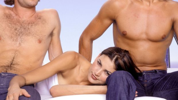 Lust triangle ... male gay sex is a common feature of women's fantasies, say researchers.