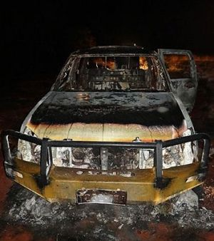The men were left with no provisions after the car fire.