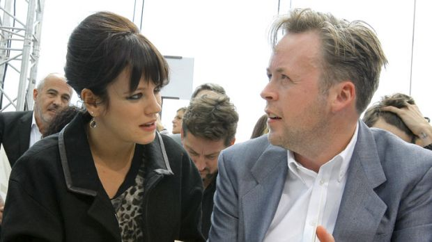 Sobering influence ... Lily Allen and husband Sam Cooper.